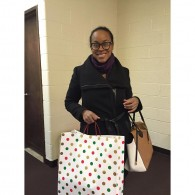 Me dropping off gifts