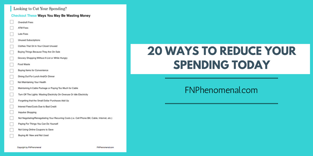 20 Ways to Immediately Reduce Your Spending Today