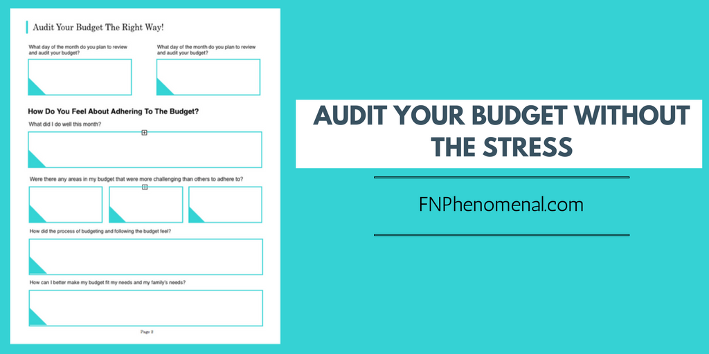 Audit Your Budget Without The Stress