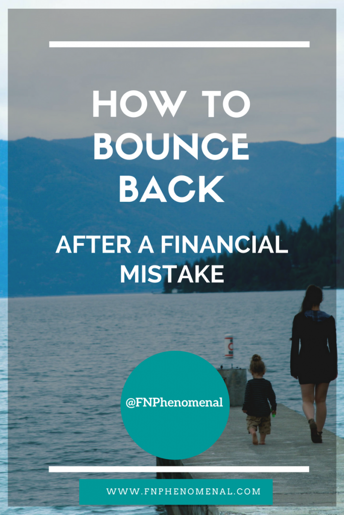 How to bounce back after a financial mistake