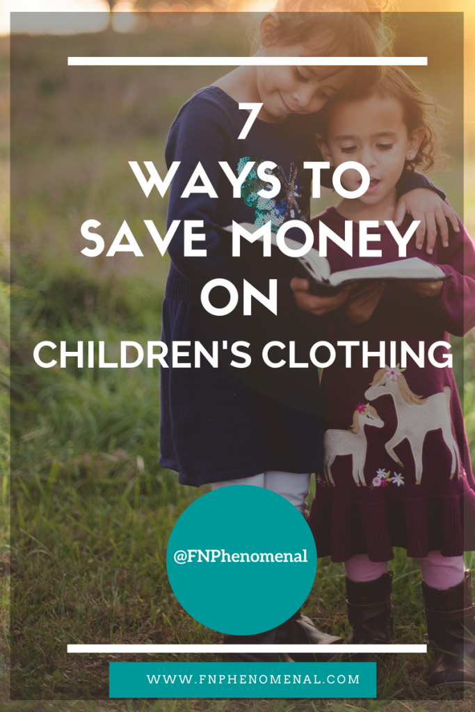 Children's clothing is expensive. This podcast episode discusses 7 Ways to Save Money on Children's Clothing