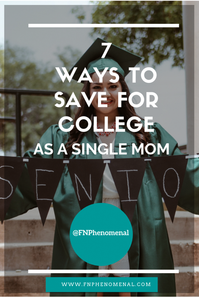 In this episode of the Phenomenal Moms with Aisha Taylor Podcast Aisha shares 7 Ways To Save For College as a Single Mom
